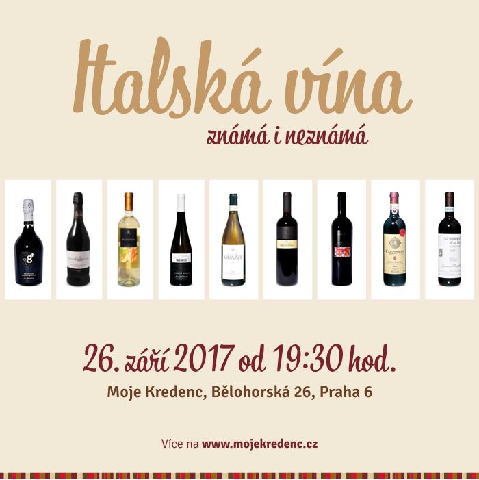 Degustace italských vín