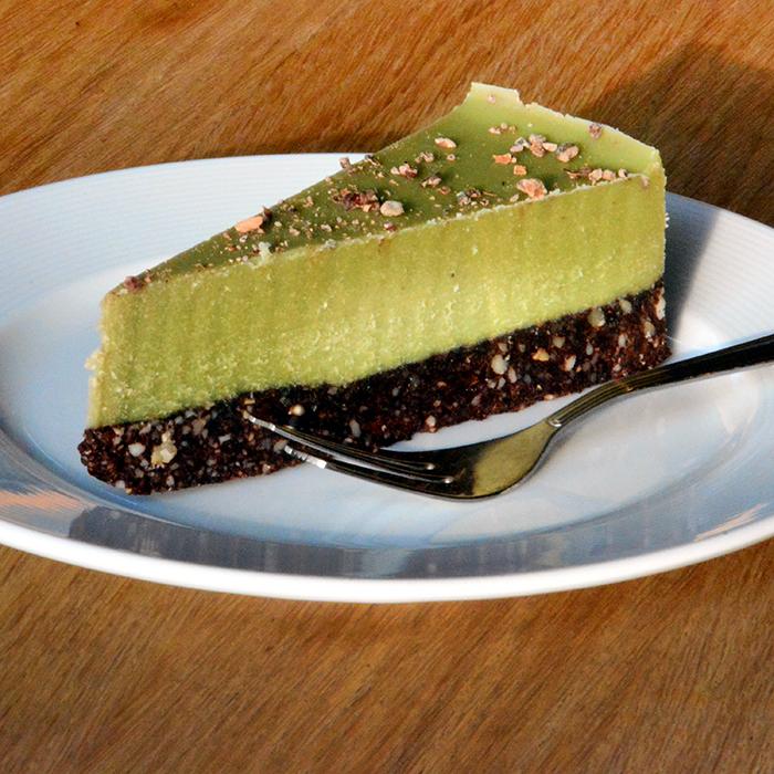Matcha cheesecake  bez lepku apečení