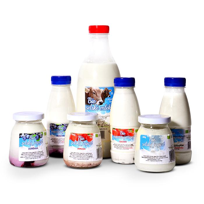 Mléko, tvaroh ajogurty zekofarmy Struhy